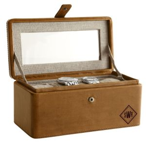 rustic leather watch box